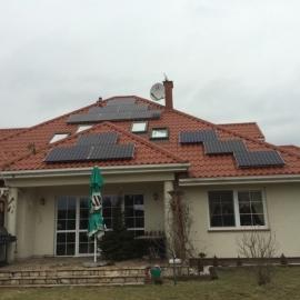 Debe Wielkie 6,27 kWp kolektory Instalacja w 3 strony swiata BenQ SunForte 330 Wp, SMA 03