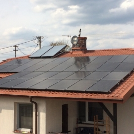 Fotowoltaika Tyborów moc 9,18 kWp BenQ mono Black, SMA