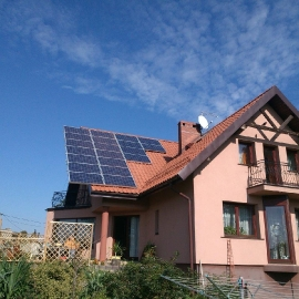 Gliwice fotowoltaika moc 5_2 kWp panele IBC Solar Inwerter SMA