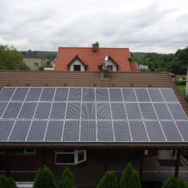 Rybnik moc 10 kWp panele fotowoltaiczne IBC Solar Inwerter SMA