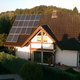 Wozniki fotowoltaika - moc 4_8 kWp panele Renesola mono Inwerter Fronius