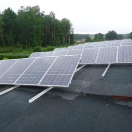 Wozniki moc 18 kWp panele fotowoltaiczne IBC Solar Inwertery SMA