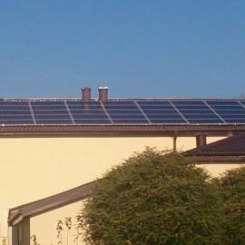 Zabia Wola moc 10 kWp panele fotowoltaiczne Suntech Inwerter SMA